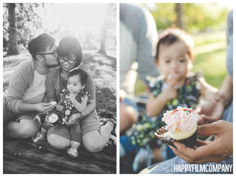 family eating cupcake - cake smash  - Seattle Family Videography - Sandpoint Family Photography - the Happy Film Company