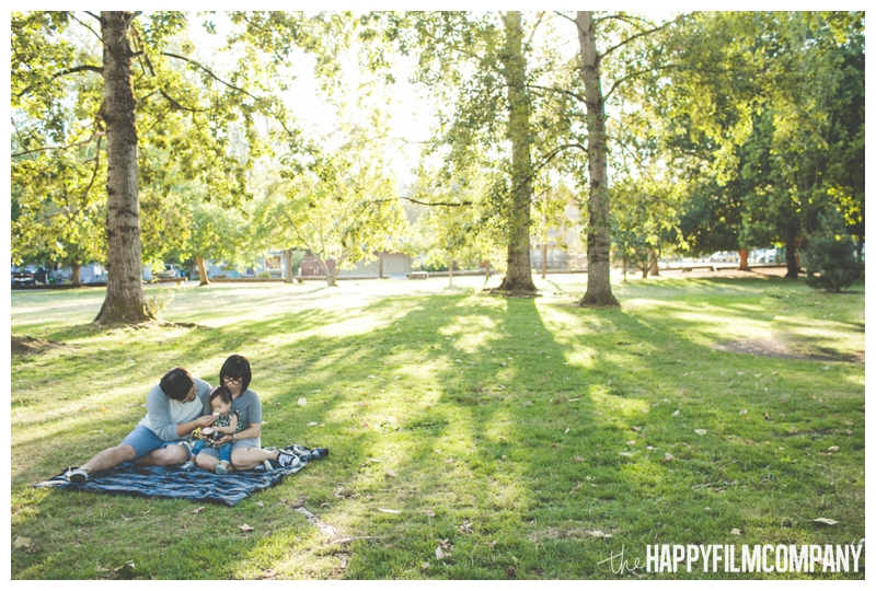 family having picnic in park  - Seattle Family Videography - Sandpoint Family Photography - the Happy Film Company