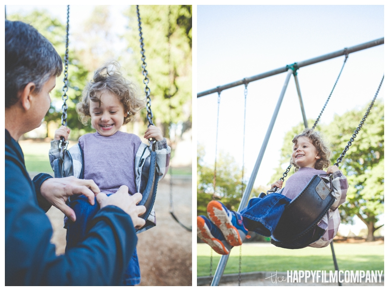 family swings playground  - the Happy Film Company - West Seattle Family Photography