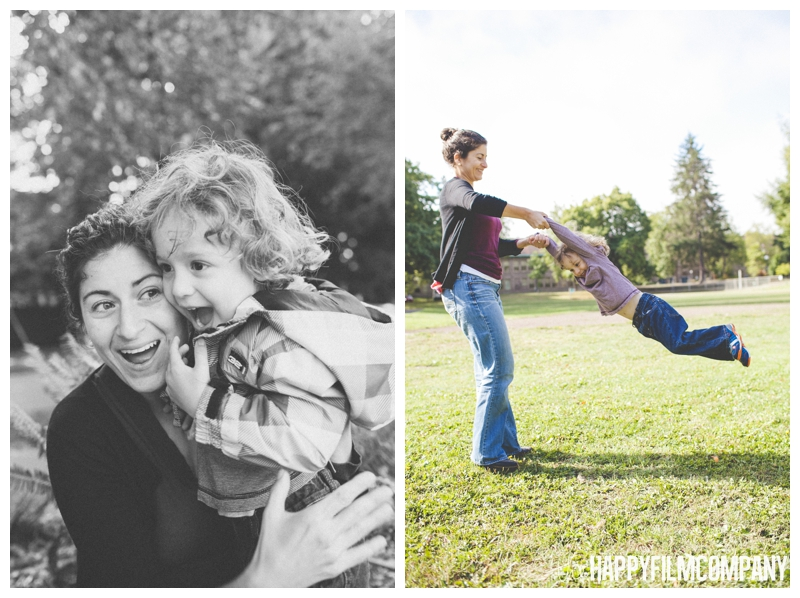 family playing in park  - the Happy Film Company - West Seattle Family Photography