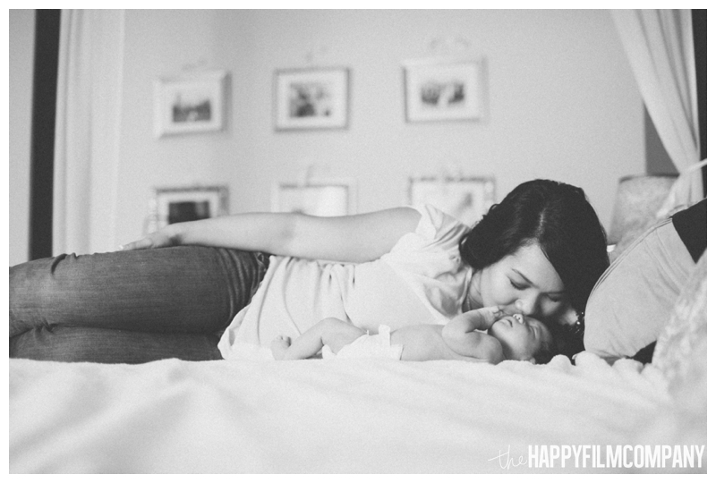 mom and baby portrait black and white - Natural Seattle Newborn Photography - the Happy Film Company