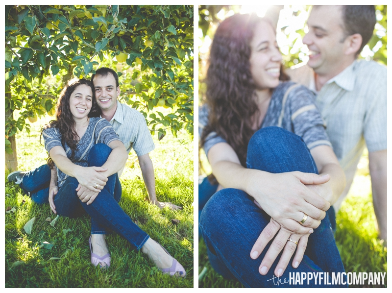 gorgeous sunset couples portraits golden hour  - Seattle Family Apple Picking Photo Shoot - the Happy Film Company