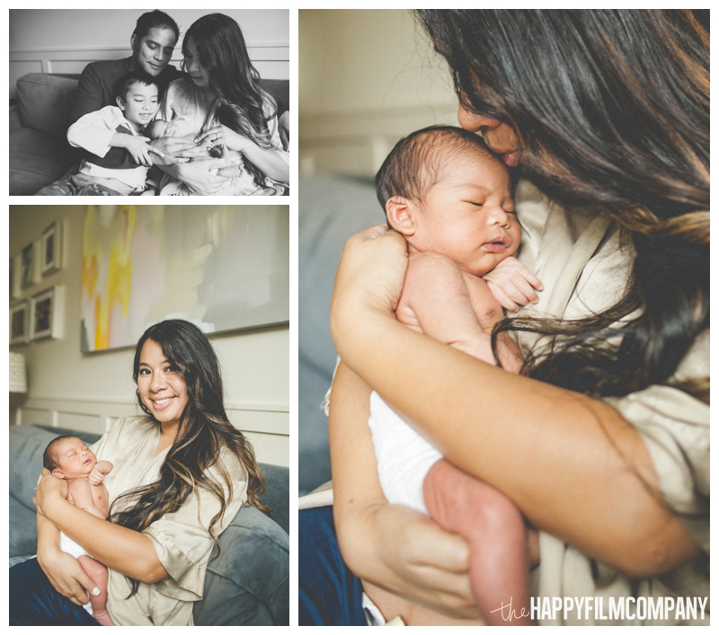 lifestyle natural newborn photography  - the Happy Film Company - Seattle Newborn Photos at Home