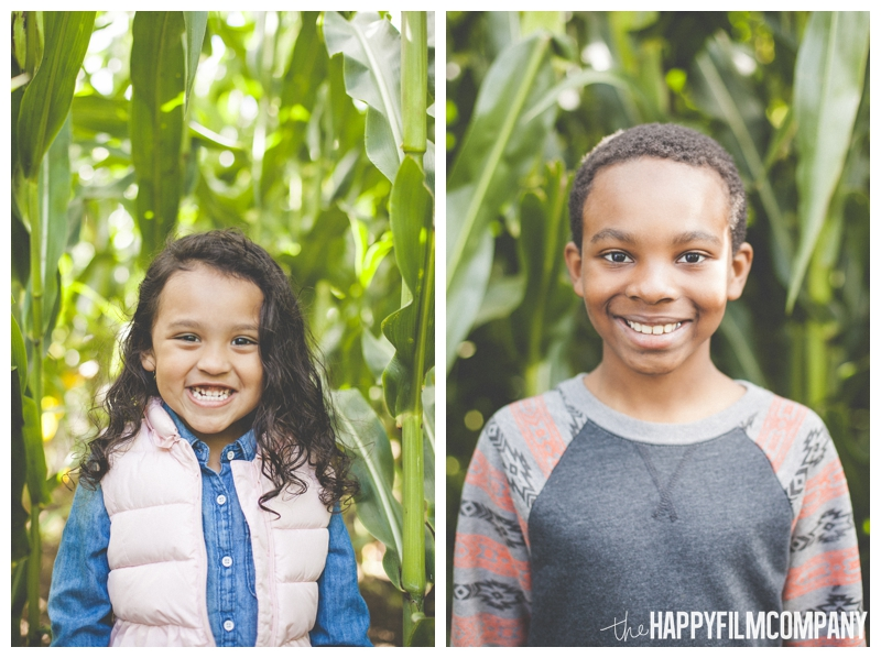 cute kids portraits  - Seattle Family Holiday Photos - The Happy Film Company - Seattle Family Portraits in Corn Maze