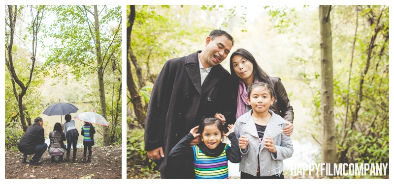 family making silly faces  — Seattle Family Photos - Black River Riparian Forest and Wetland - the Happy Film Company