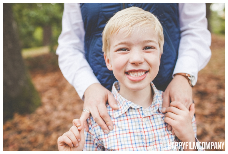smiling boy portrait  - the Happy Film Company - Seattle family holiday photo shoots - Arboretum