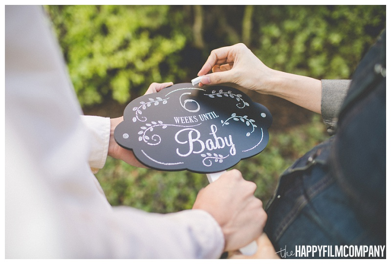 cute pregnancy announcement signs ideas  - the Happy Film Company - Seattle Maternity Photography