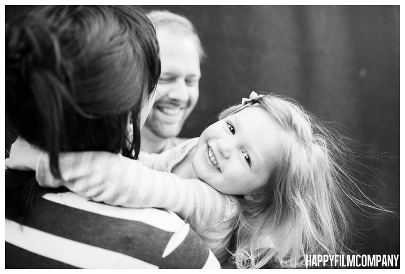 Black and white family portrait  - the Happy Film Company - Seattle Family Photography
