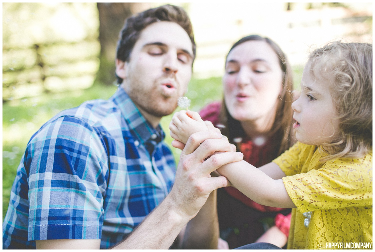 Mom and Dad playing with their little princess - the Happy Film Company - Seattle Family Photography