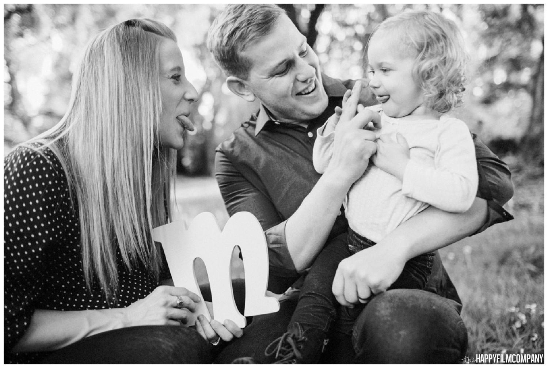 Black and white family photo - the Happy Film Company - Seattle Family Photos
