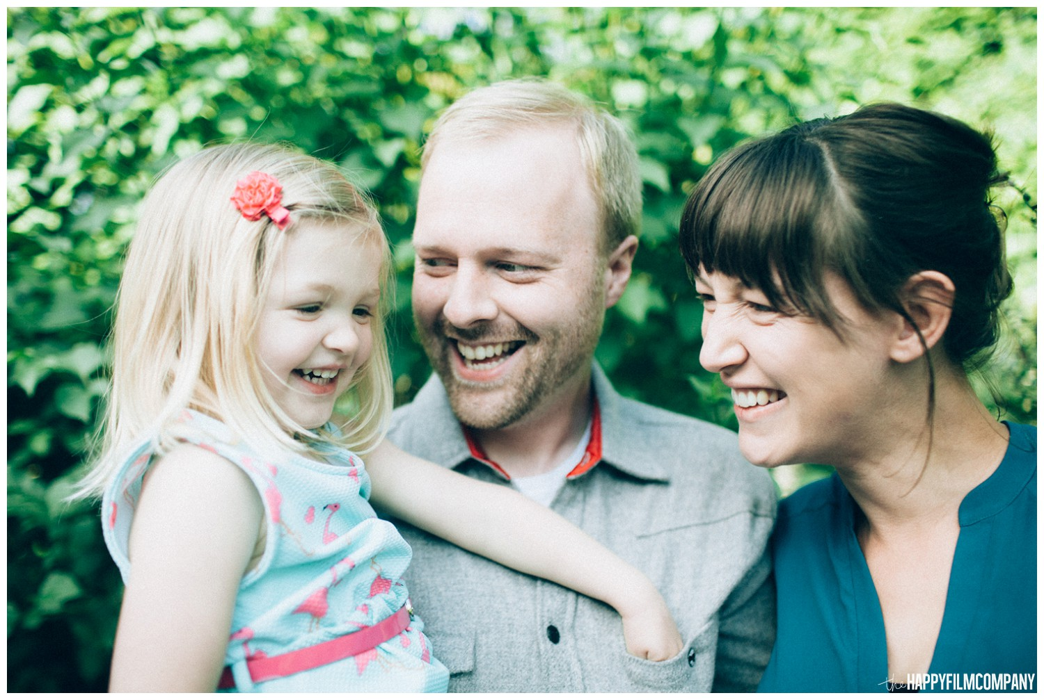 Mom and Dan with their daughter - the Happy Film Company - Seattle family photos
