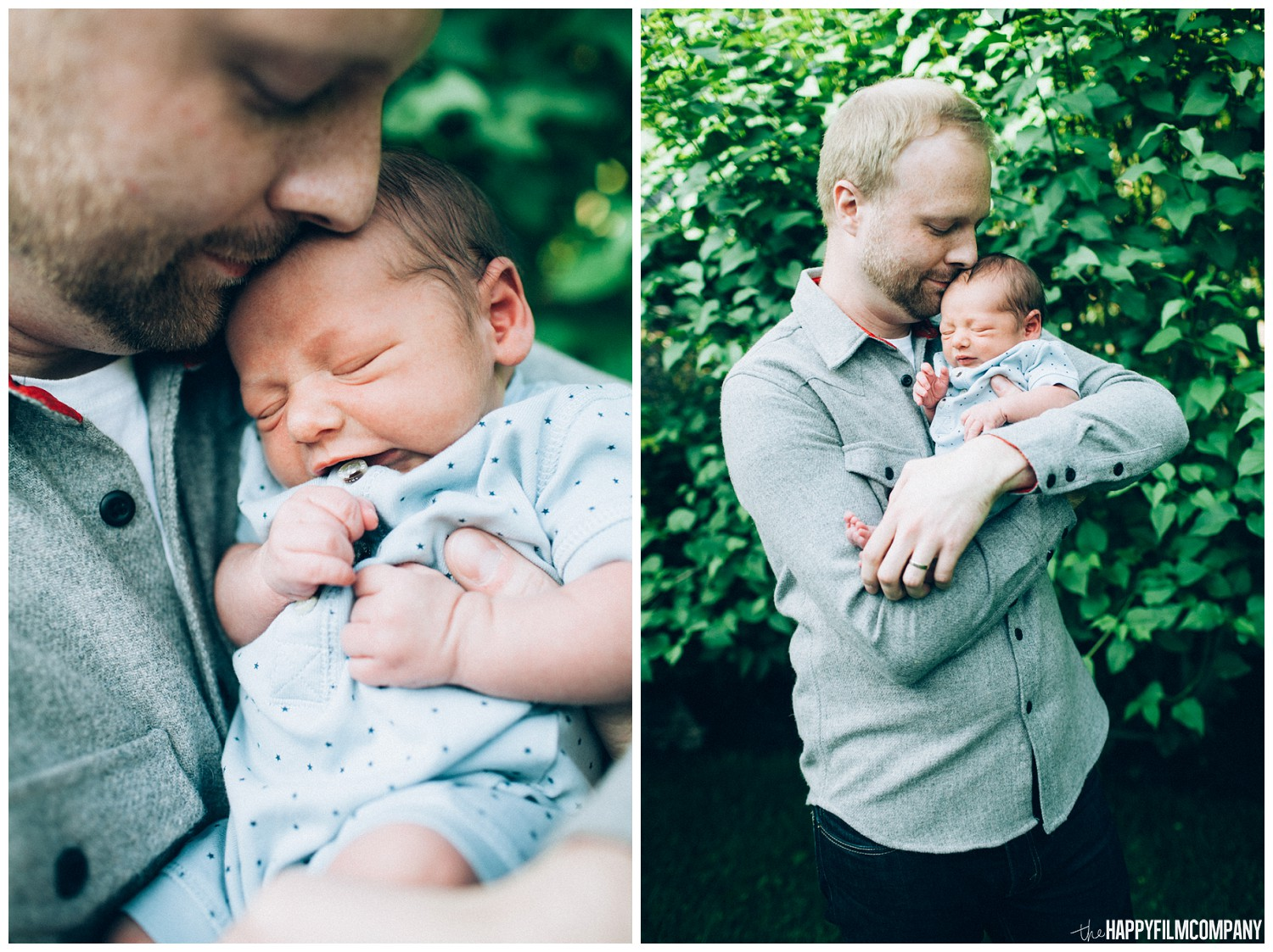 Father and newborn baby the Happy Film Company - Seattle family photos