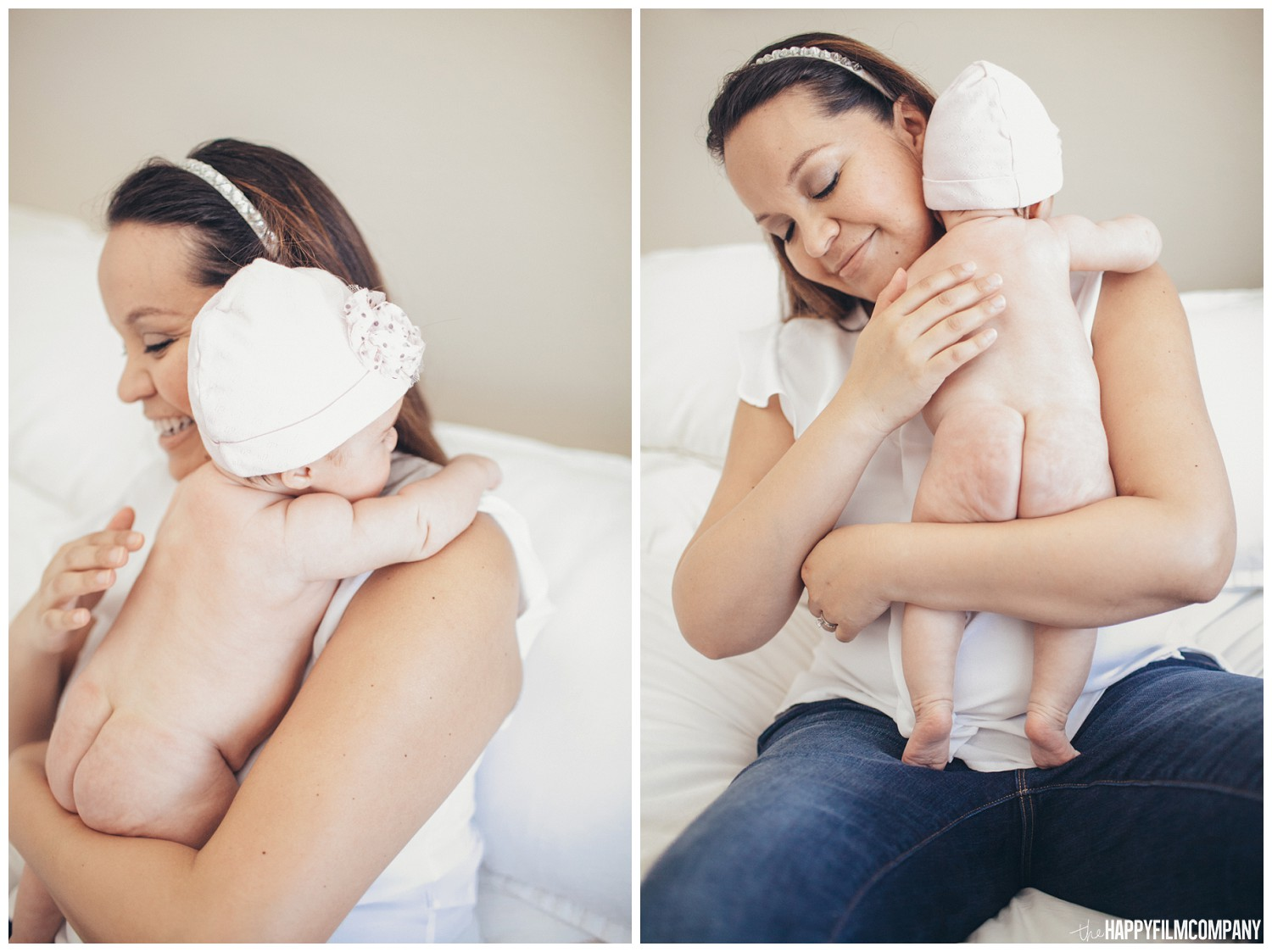 Mother and baby bonding - the Happy Film Company - Seattle Family Photos