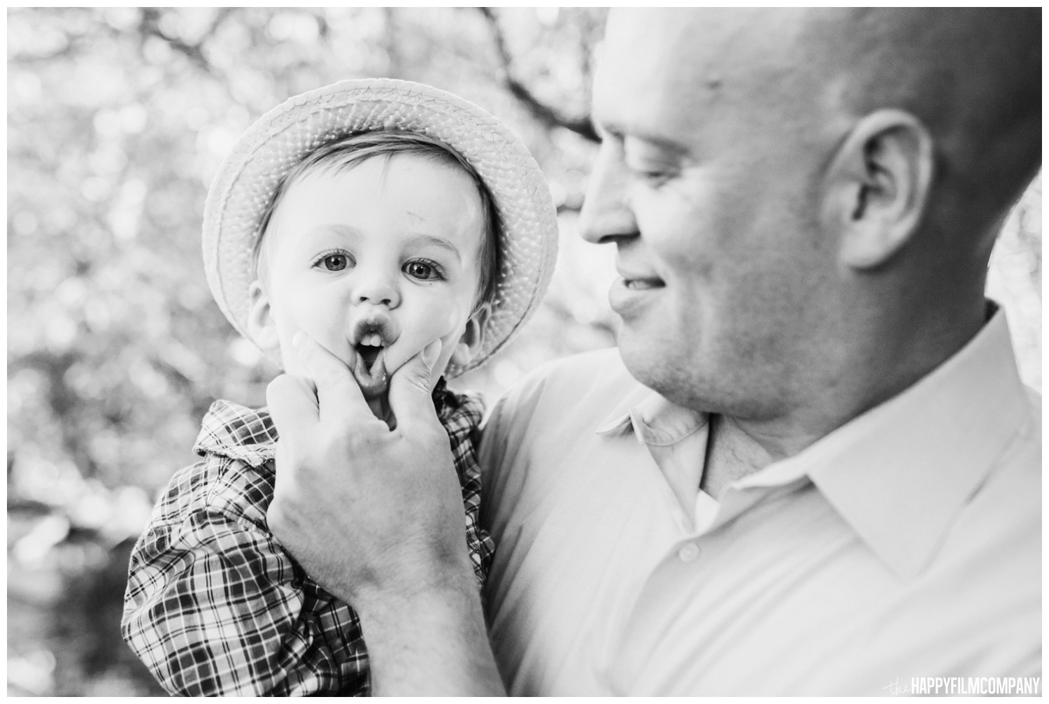 Father and Son - Black and white photo - the Happy Film Company - Seattle Family Photos