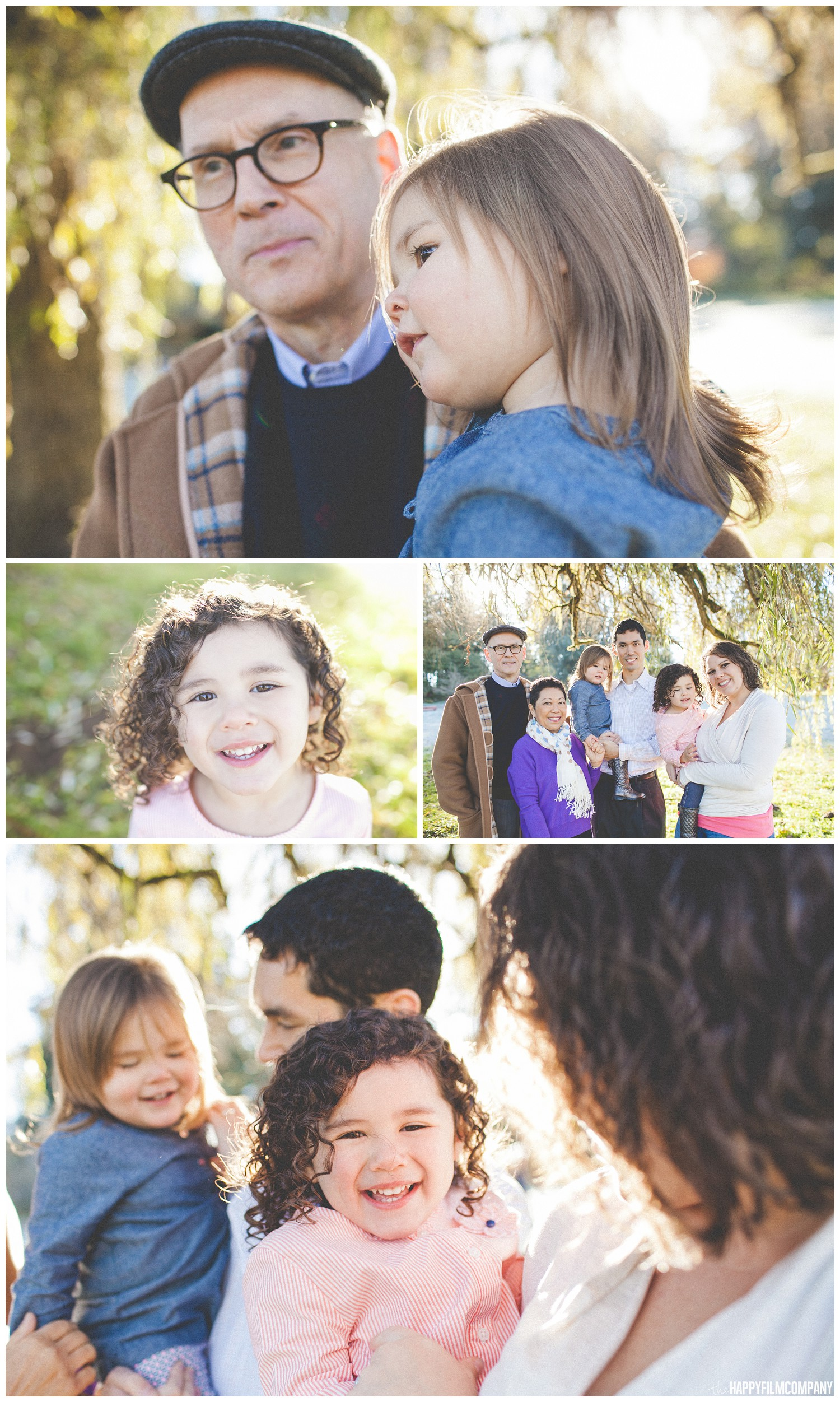In these photos of the Evans Family, you can see the sunlight is coming from behind them and creating a beautiful rim of light around their heads.