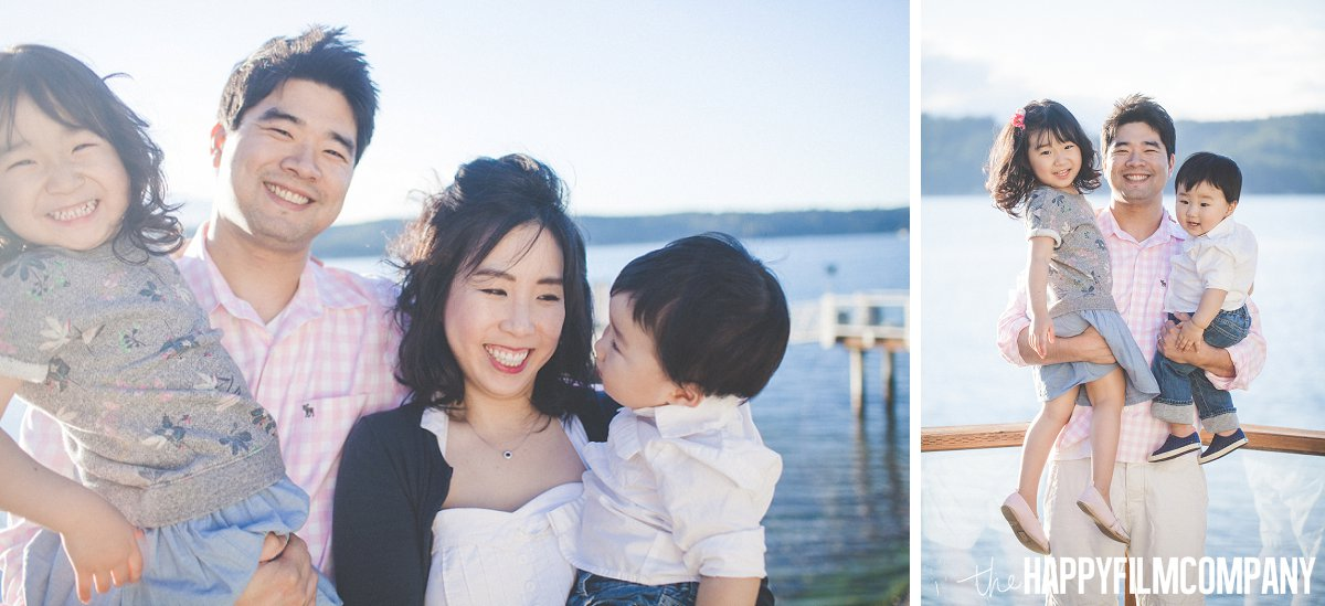 Famil of Four - Dad carrying his two adorable kids - the Happy Film Company - Seattle Family Photos