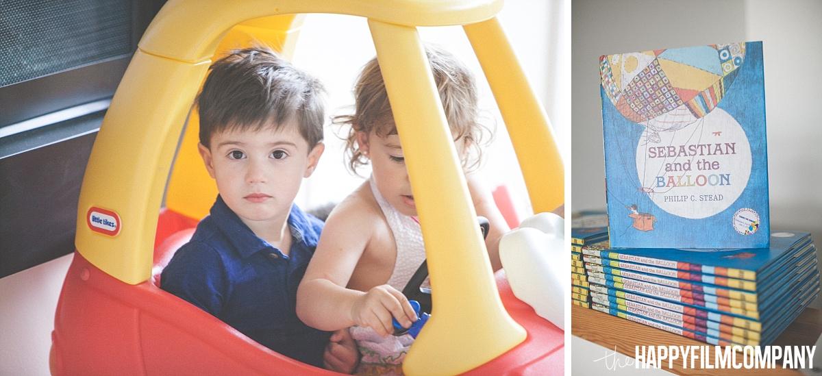 Kids riding on a mini car - the Happy Film Company- Seattle Family Photos