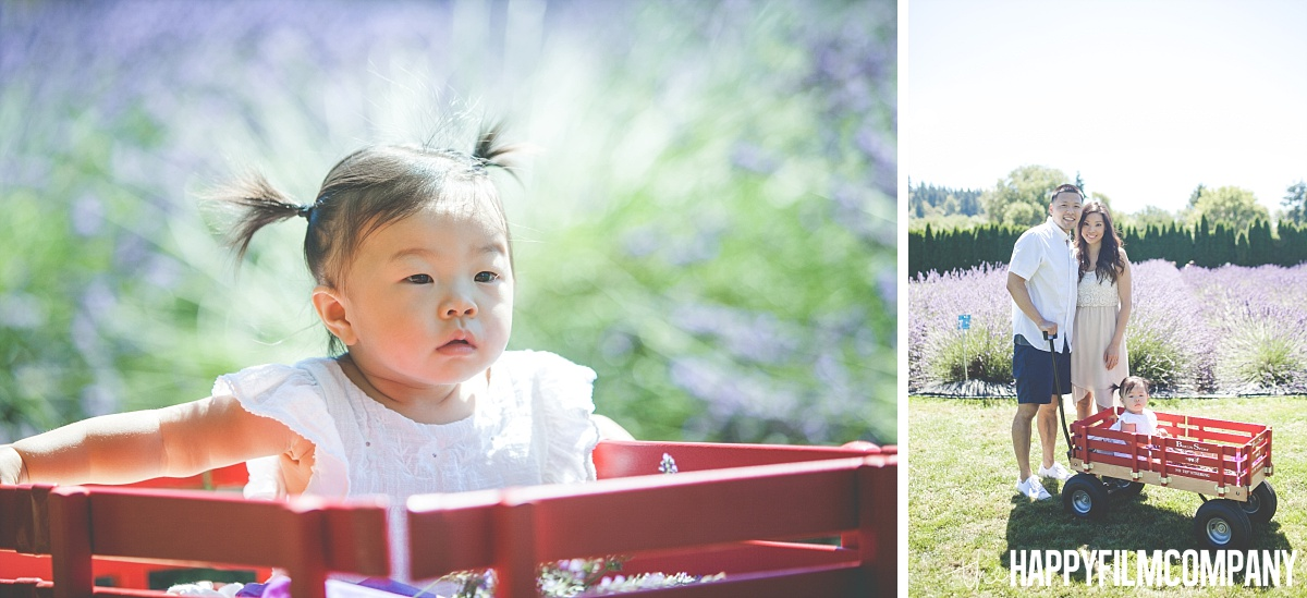 Little girl in the cart-the Happy Film Company - Seattle Mini Family Photo Shoots
