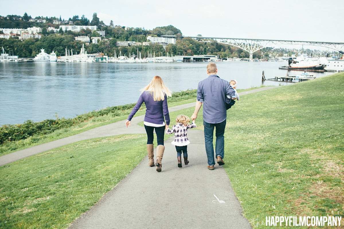 Walking by the lake - the Happy Film Company - Seattle Family Photos