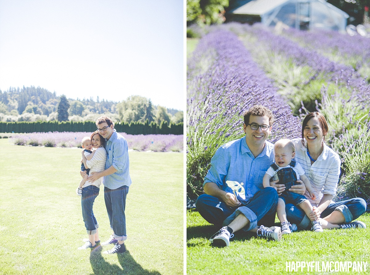 Family photos at the Lavender field - the Happy Film Company - Seattle Family Photos