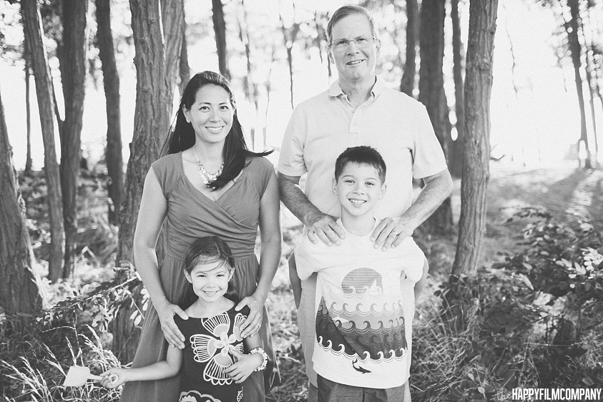 Black and while family portrait - the Happy Film Company - Seattle Family  Photos