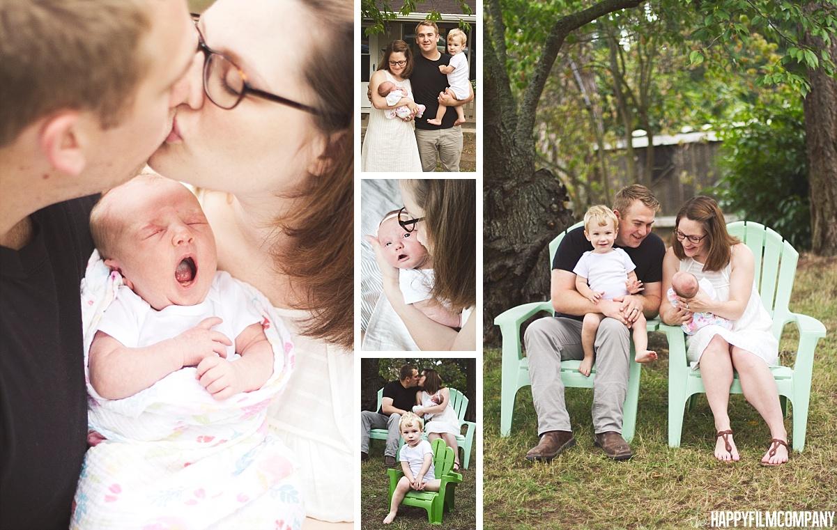 Newborn photos-Family of four - the Happy Film Company - Seattle Family Photos