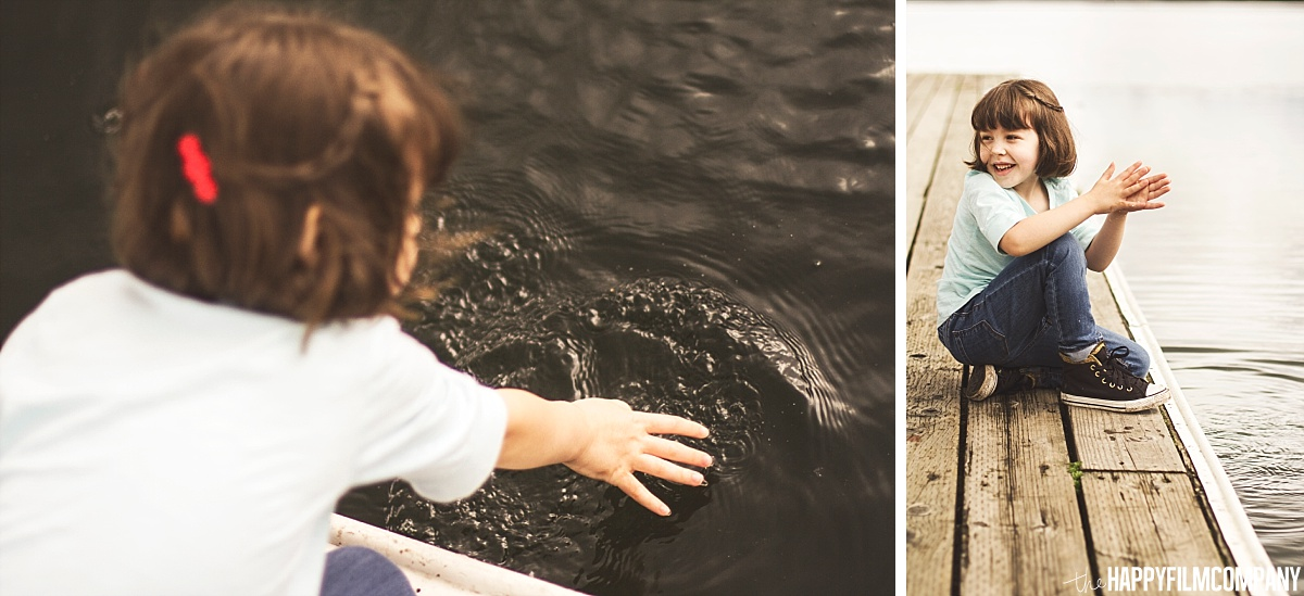 Little girl playing with water -  the Happy Film Company - Seattle Family Photos