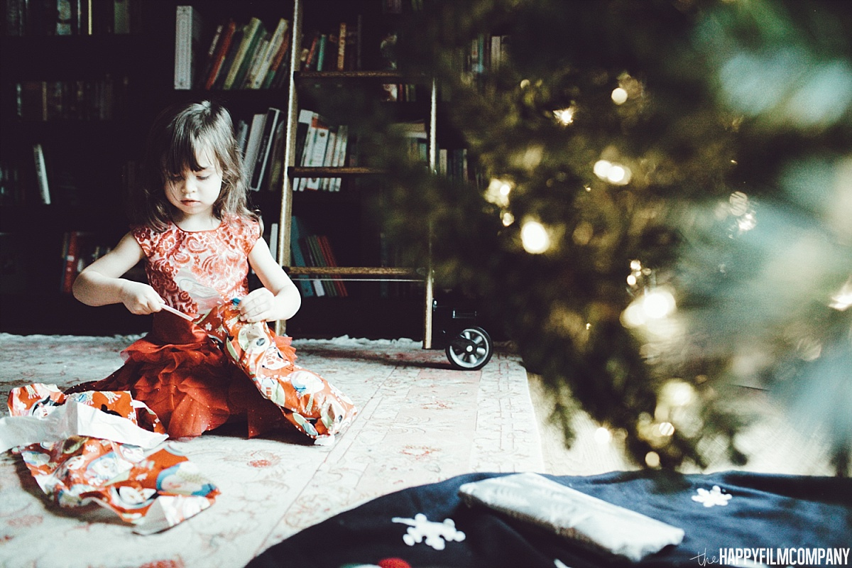 Opening Christmas Presents - the Happy Film Company - Seattle Family Photos