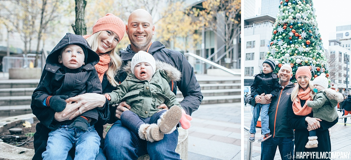 Christmas Photos at downtown Seattle - the Happy Film Company- Seattle Family Photos