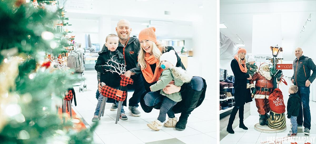 Macy's department store family photos - the Happy Film Company- Seattle Family Photos