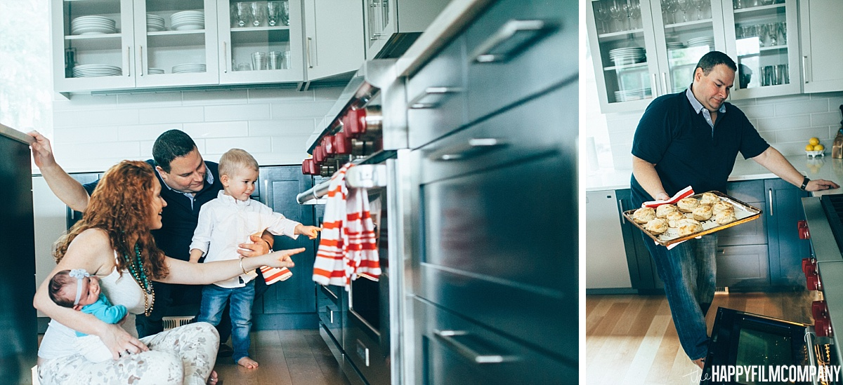 Baking biscuits -  the Happy Film Company - Seattle Family Photos