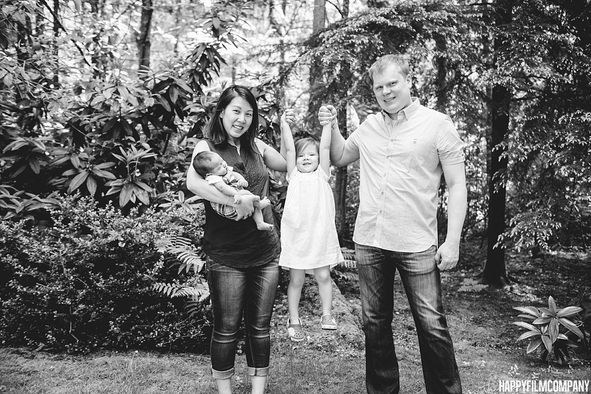 Black and white family portrait - the Happy Film Company - Seattle Family Photos