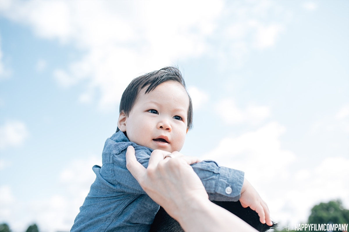 Cute little boy in blue long sleeves -  the Happy Film Company - Seattle Family Photos