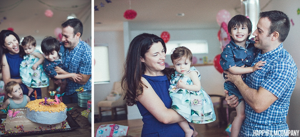 Blowing the birthday cake - the Happy Film Company - Seattle Family Photos