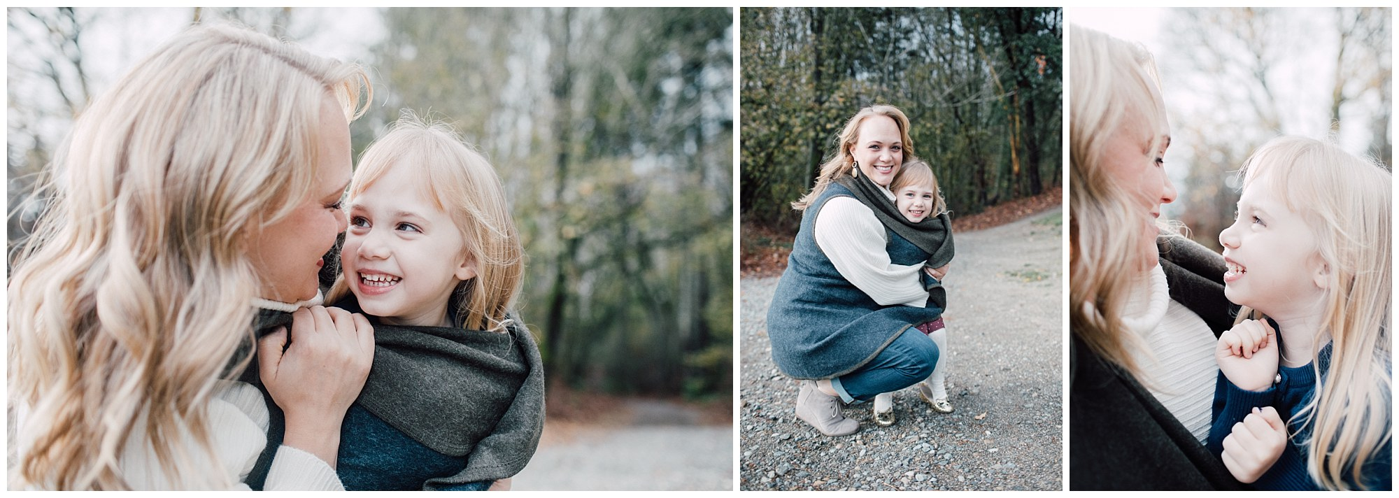 the Happy Film Company - St. Edwards Park - Seattle Family Photography - mother daughter portraits winter forest