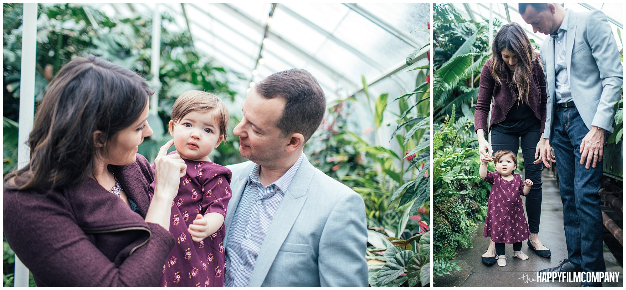the Happy Film Company - Seattle Family Photos - Volunteer Park Conservatory - little girl in purple dress outfits