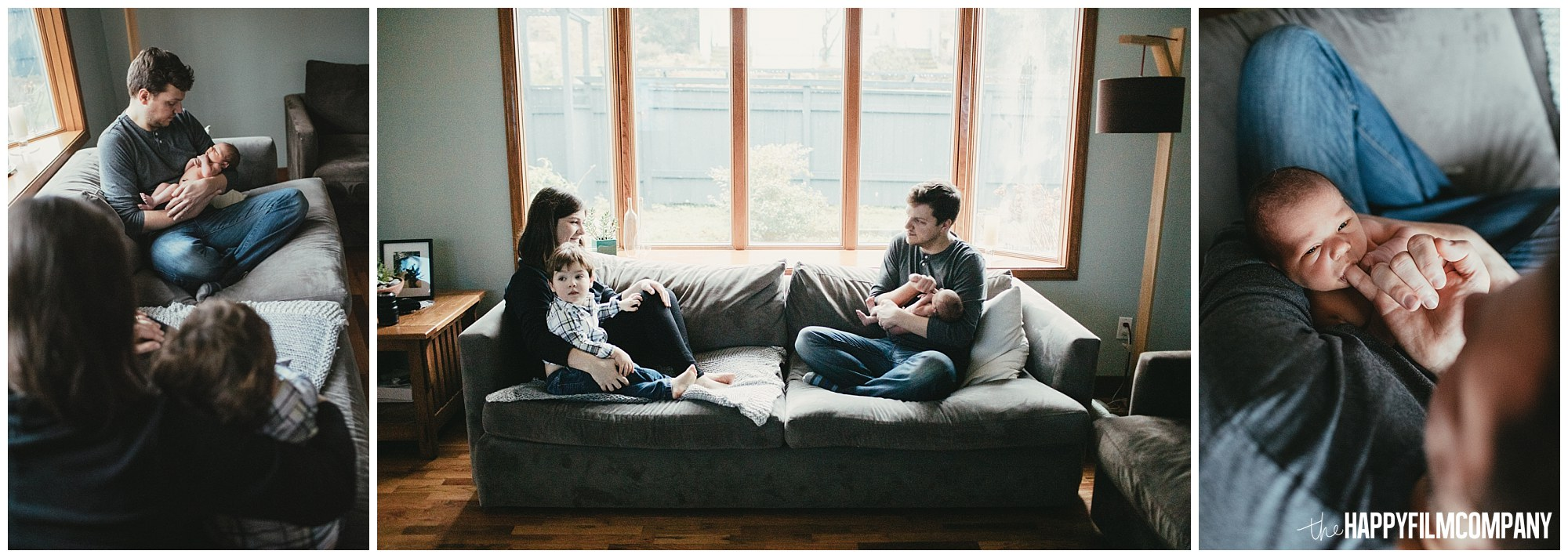 the Happy Film Company - Seattle Newborn Photographer - family portraits in living room