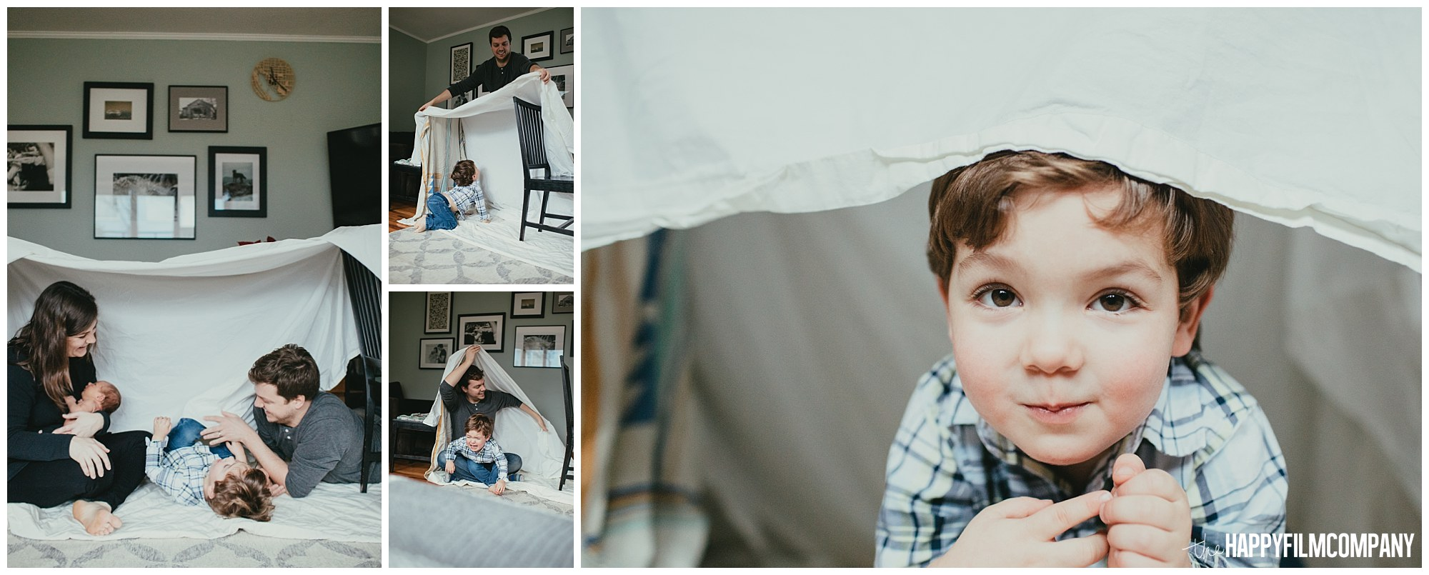 the Happy Film Company - Seattle Newborn Photographer - family forts building kids