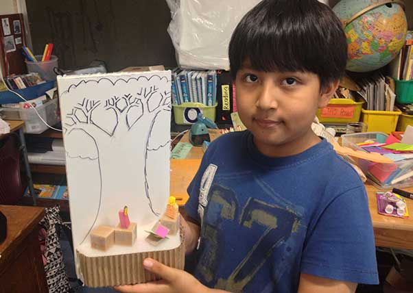 How about a tree house for independent reading time, Edward, one of our room 220 volunteers, says.