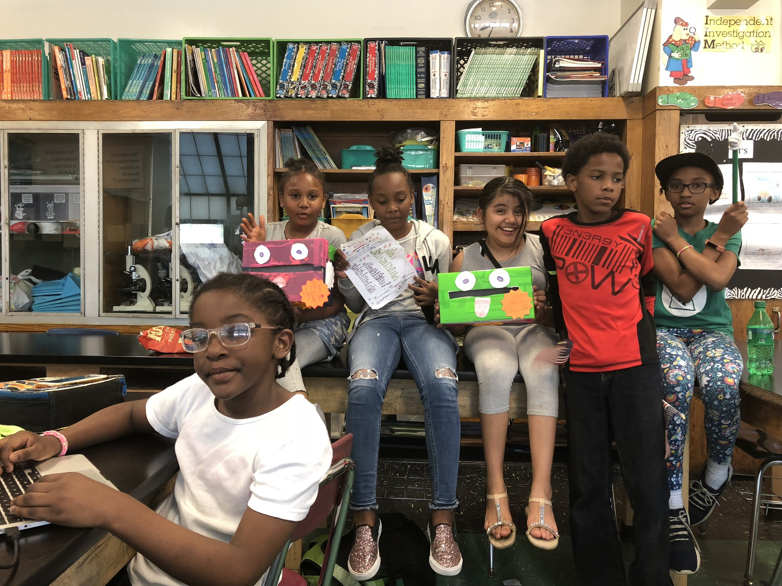Kid Reporters decided to hold an election for the Rising Star Award, making a ballot, ballot boxes and posters to broadcast that all 4th and 5th graders would vote. Afterwards they wrote about the process and the outcome. Most award winners are determined by adults. The kids wanted to decide among their peers who deserved the Rising Star Awards because they see their peers in a different way than adults do.