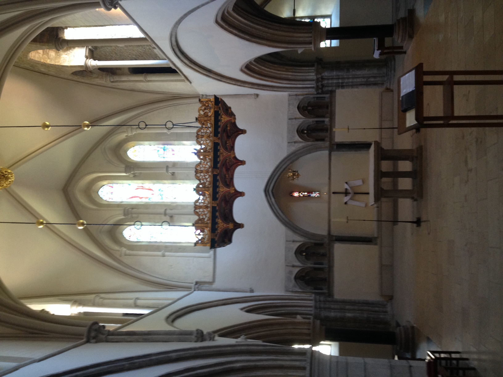 A section of the Portsmouth Cathedral constructed in the 12th century. A testament to long obedience and faithfulness.