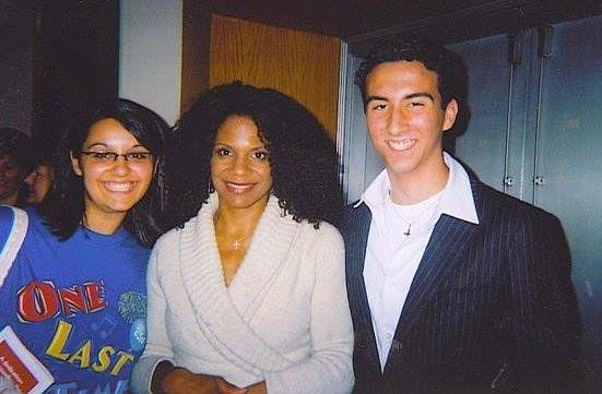 Old school photo with Audra McDonald and my good friend, Joanna. Audra was kind enough to accept my invitation to speak to our show choir after her show in Buffalo, NY, which was just about the most amazing thing ever.