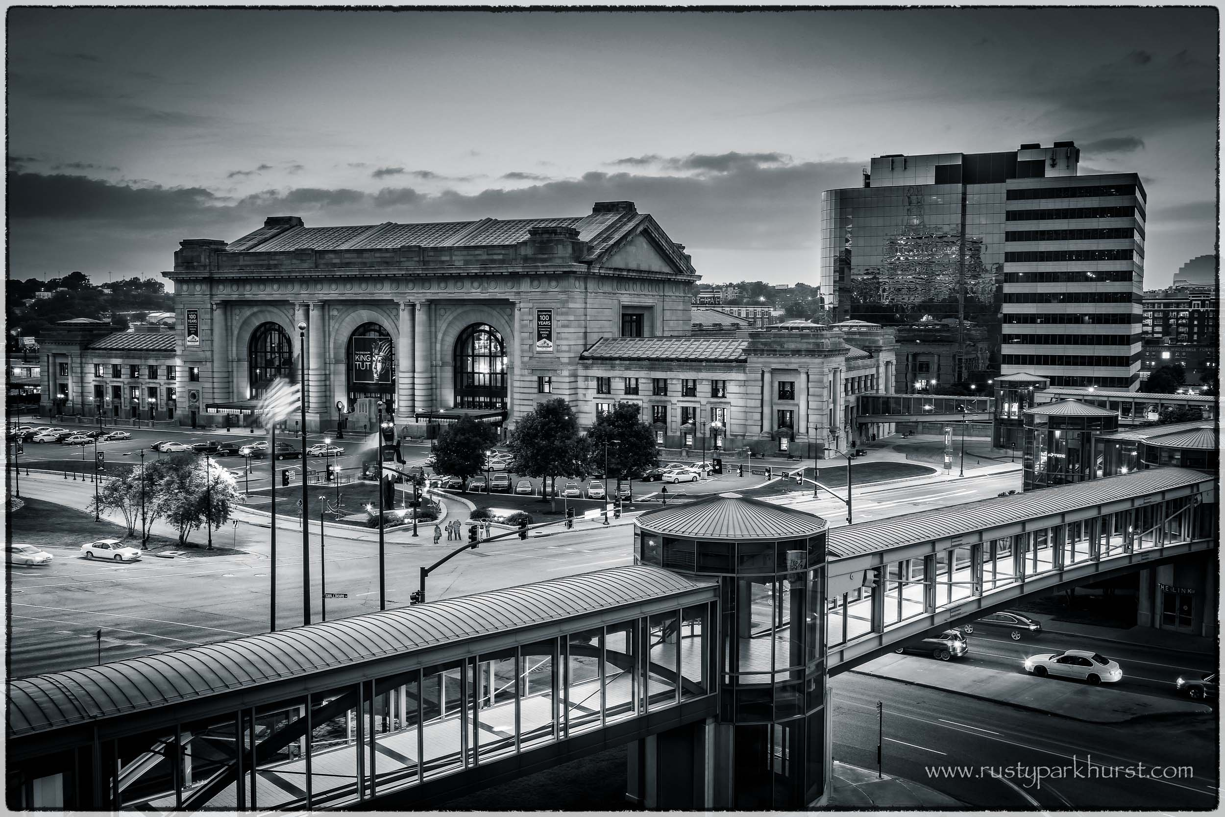A view of Union Station from the Westin Crown Center