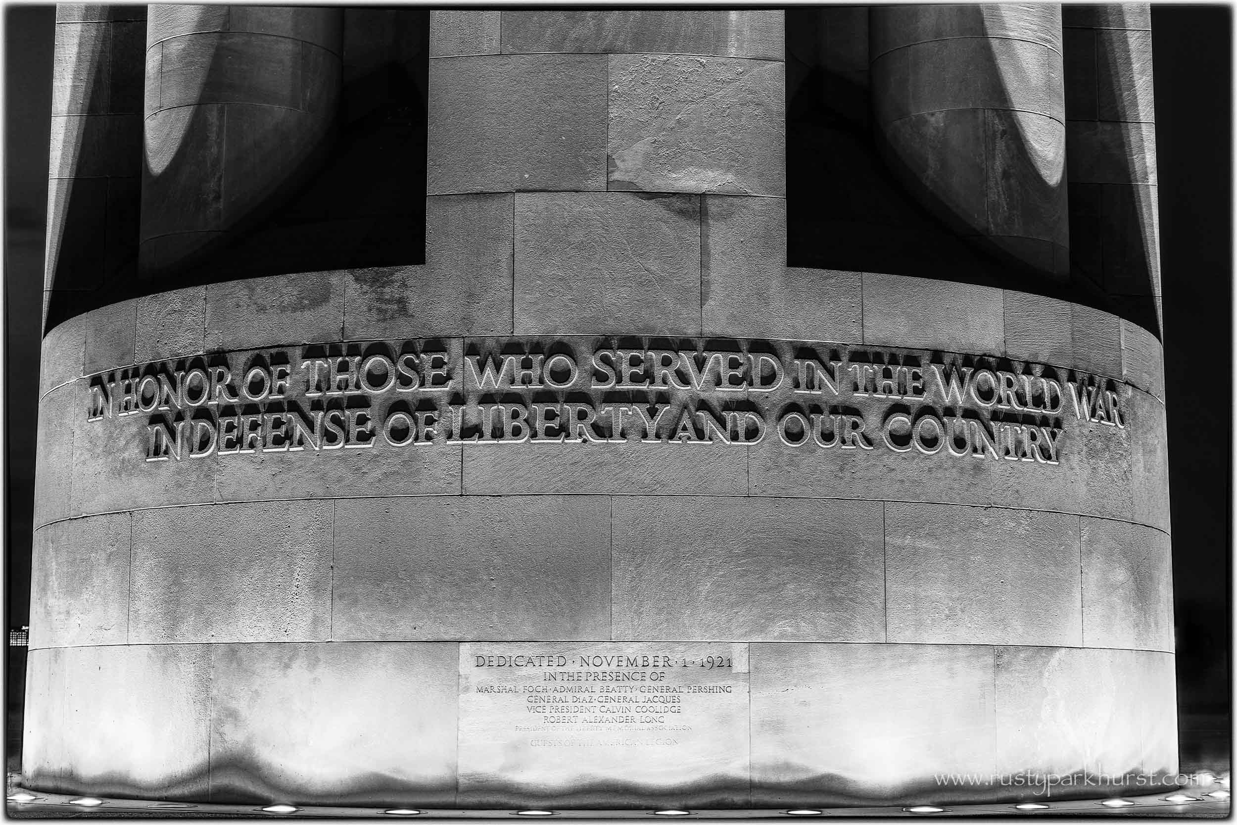 Quite appropriate for upcoming Independence Day...The Liberty Memorial