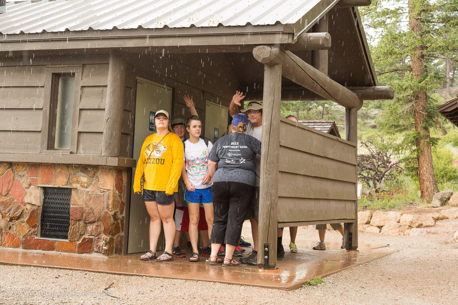We made it back to the trailhead just as the rain started. We stayed mostly dry and had a great time.