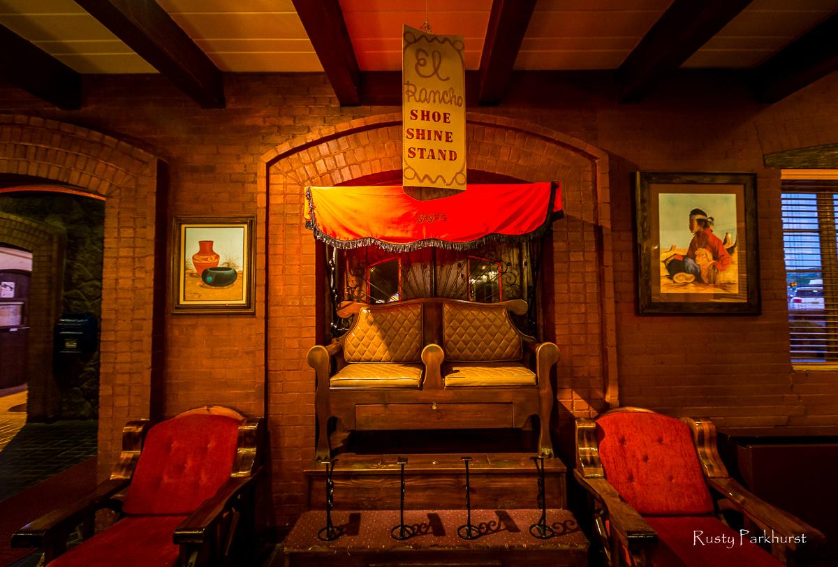 Shoe Shine Stand, El Rancho Hotel