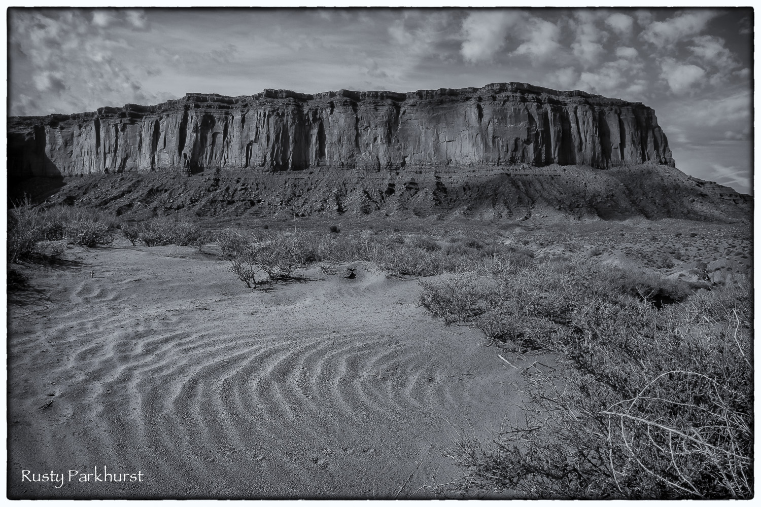 Mitchell Mesa and Sand Ripples