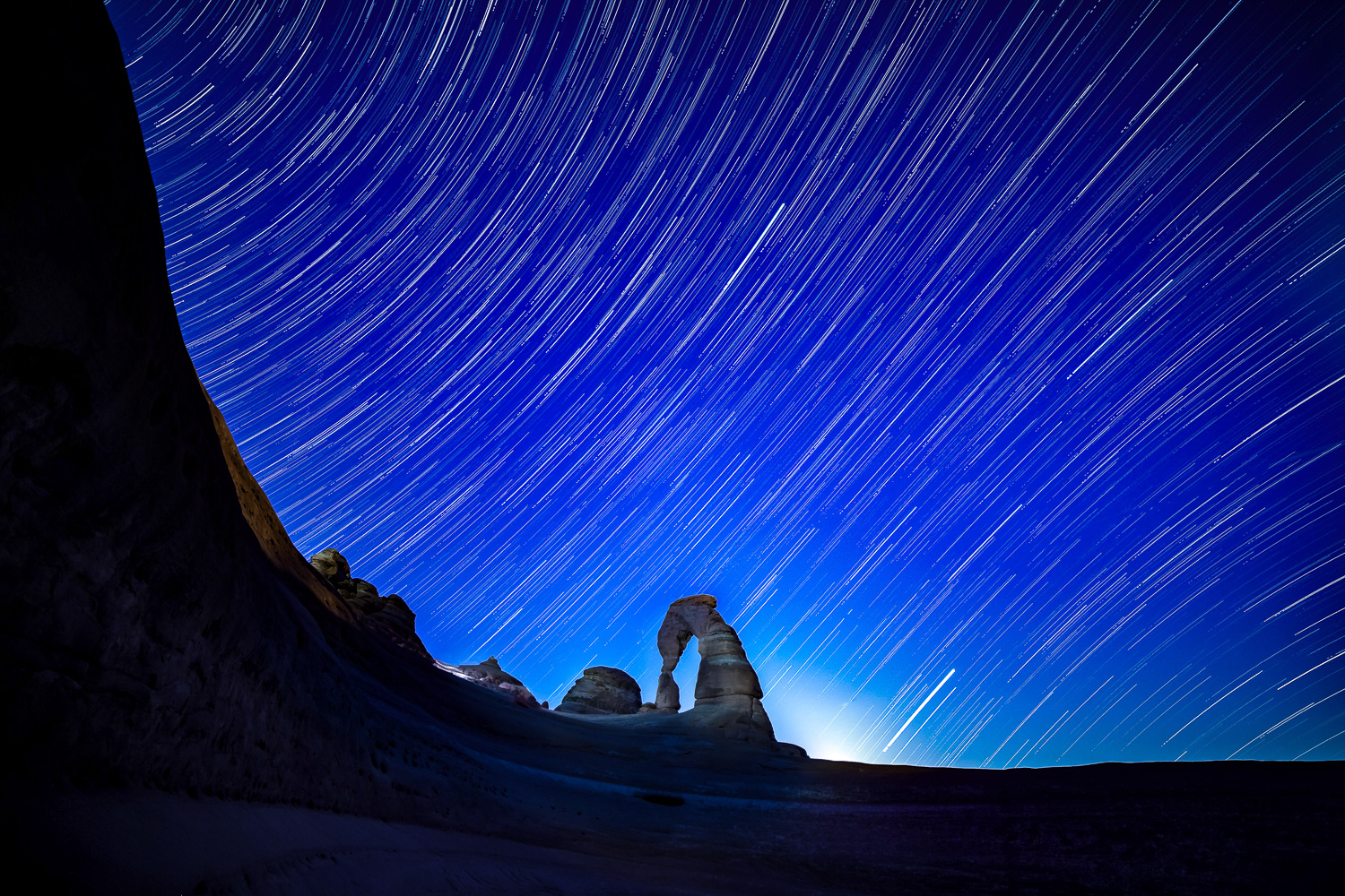 Delicate Arch Star Trails