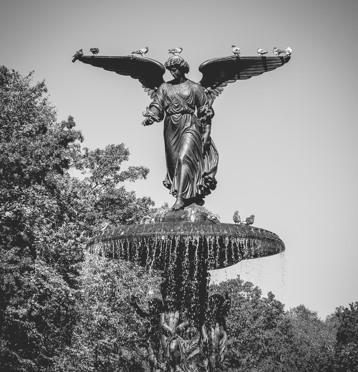 Bethesda Fountain with the Angel of Waters statue