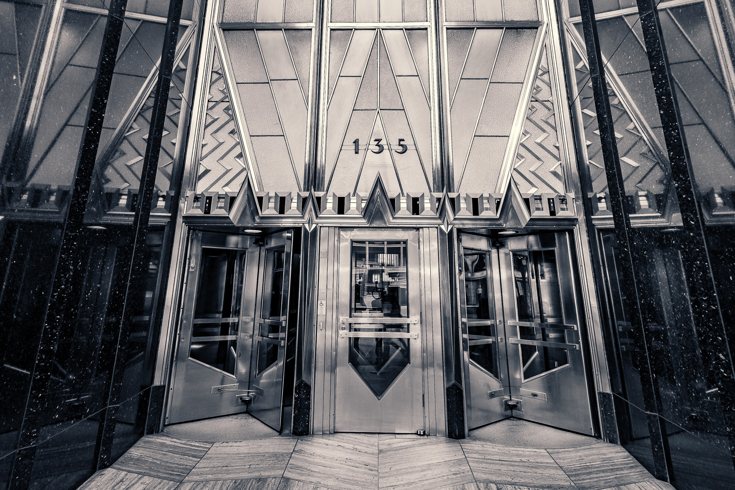 The Chrysler Building entrance
